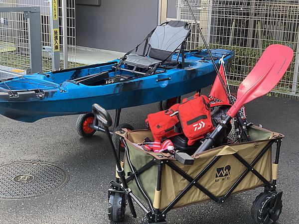 釣り用に購入したアウトドアワゴン
