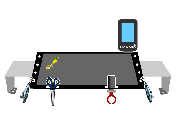 カヤック艤装テーブル設置