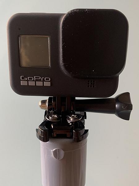 塩ビパイプとGoProアクションカメラを取り付け