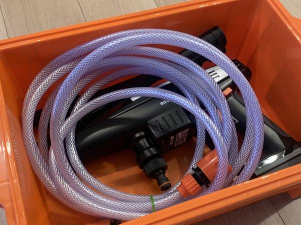 高圧洗浄機も収納可能